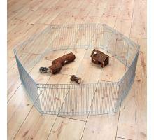 Pozinkovaná ohrádka pro myši a křečky 6 dílů 48x25cm