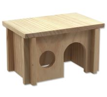 Domek SMALL ANIMAL dřevěný hladký 20 x 13 x 12 cm 1ks