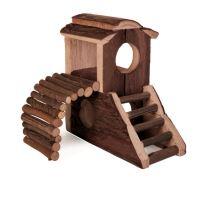 Dřevěná rozhledna MATS pro hlodavce 17x17x10cm TRIXIE