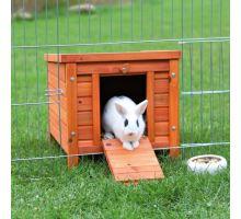 Dřevěný domek NATURA morče, králík 42x43x51cm