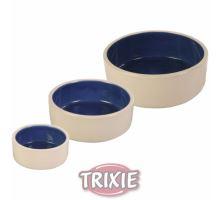Keramická miska - bílá/modrá