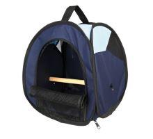Transportní taška s bidýlkem pro ptáky tm/sv.modrá 27x32x27cm