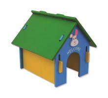 Domek SMALL ANIMAL dřevěný barevný 24,5 x 22,5 x 23 cm 1ks