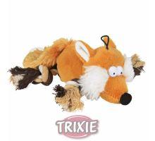 Plyšová liška s bavlněnými uzlíky 34cm TRIXIE