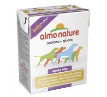 Almo Dog Nature Daily tetrapack kuře+krůta 375g