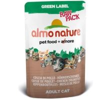 Almo Cat Nat.kočka kaps Green Lab. Raw kuřecí steh 55g