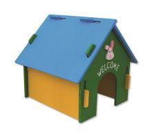 Domek SMALL ANIMAL dřevěný barevný 30 x 29,5 x 29,5 cm 1ks