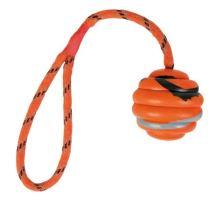 Vrhací vlnitý míč na šňůře 6cm/30cm VÝPRODEJ