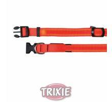 Flash nylonový svítící obojek oranžový