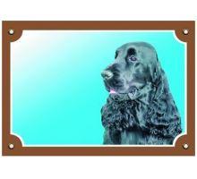 Barevná cedulka Pozor pes Anglický kokr černý