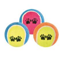 Tenisový míč barevný s tlapkami 6cm VÝPRODEJ
