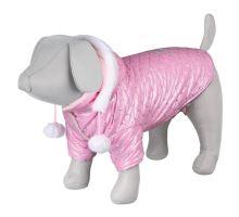 Lesklá bundička DOG PRINCESS růžová S 33 cm