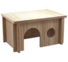 Domek SMALL ANIMAL dřevěný hladký 28 x 19 x 15 cm 1ks