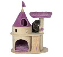 Škrábací hrad MY KITTY DARLING s odpočívadlem a hračkou 90cm