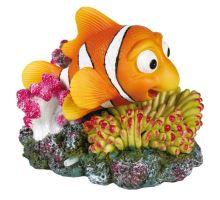 Korál s barevnou rybou 12x10 cm