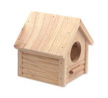 Domek SMALL ANIMAL Budka dřevěný 12 x 12 x 13,5 cm 1ks