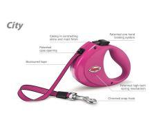 Vodítko FLEXI CITY Pásek 2m/35kg růžová