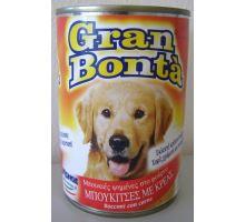 Gran Bonta konzerva s hovězím masem pro psy 1230g