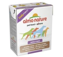 Almo Dog Nature Daily tetrapack kuře+hovězí 375g