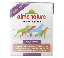 Almo Dog Nature Daily tetrapack tuňák+losos 375g