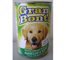 Gran Bonta konzerva s jehněčím masem pro psy 400g