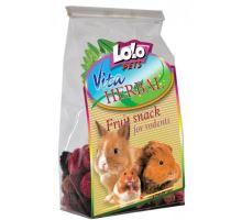 LOLOPets VITA HERBAL ovocný snack pro hlodavce 50g