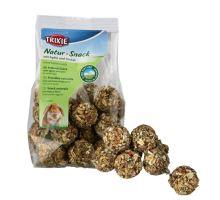 Natur Snack - kuličky s jablky a špaldou pro hlodavce 140 g